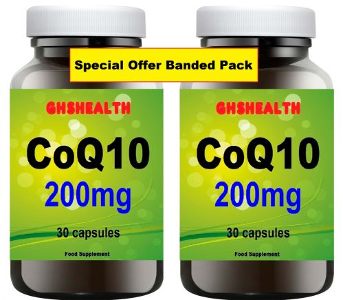 CoQ10 200mg 30+30=60 capsules double pack